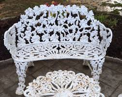 white cast iron patio furniture. fine cast cast iron outdoor furniture set bench loveseat settee 2 chairs table paired  4 pc ornate grape in white iron patio furniture