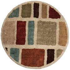 orian rugs moo blues multi 8 ft round area rug