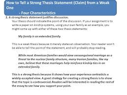how to tell a strong thesis statement claim from a weak one  how to tell a strong thesis statement claim from a weak one