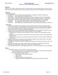 Software Testing Resume Samples For 1 Year Experience Lovely Qa
