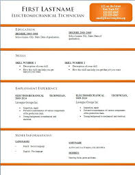 Simple Resume Format With Pops Of Color Responsive Templates Word ...