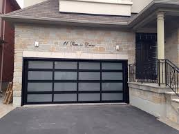 image of frosted glass garage door for patio