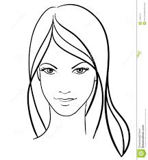 Beauty Girl Face Icon Stock Vector Illustration Of Beautiful 17830131