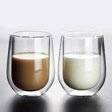 <b>Creative</b> Milk Glass Double Layer Wall Glass <b>Cup</b> Kids Heat ...