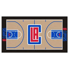 nba los angeles clippers tan 3 ft x 5 ft indoor