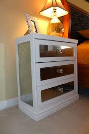 diy mirrored nightstand decorate the ikea rast 3 drawer chest with some mirrors for a