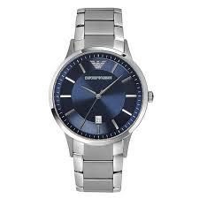 men s emporio armani watches ernest jones emporio armani men s stainless steel bracelet watch product number 1940856