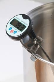 digital thermometer cooking. digital meat cooking thermometer, candy stainless steel pot clip and battery included thermometer