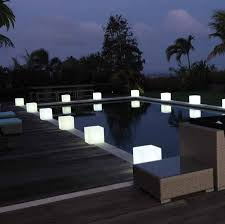 colour changing outdoor light cube lighting cool pallet patio furniture