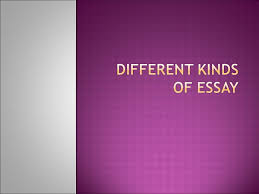 different kinds of essay