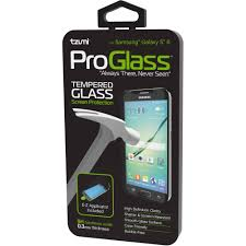 tzumi proglass for samsung galaxy s6 premium tempered glass screen protector with easy and