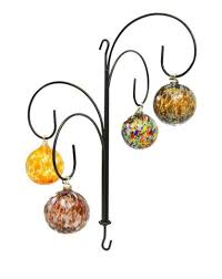 Wrought Iron Ornament Display Stand Fascinating Four Hook Wrought Iron Hanging Ornament Display Stand32H X 3232W