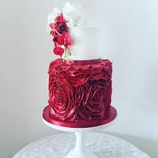 Ruffles Cake Design Red Ruffle Cake Beautiful Cake Designs Ruffle Cake