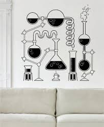 extravagant wall vinyl art science beaker design decal sticker home room decor south africa cape town