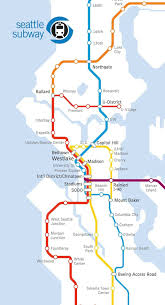 Seattle Transit Map Light Rail Seattles Light Link Rail System In The Future Seattle
