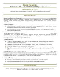 Resume For Tutoring Position Free Resume Example And Writing