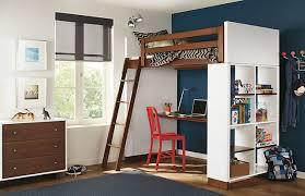 Moda Loft Bed with Desk in Mocha by R&B contemporary-kids