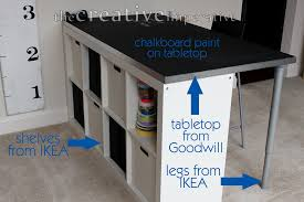 ... Surprising Craft Table With Storage For Craft Room Decoration Ideas :  Interactive Furniture For Craft Room ...