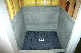concrete shower walls diy work info