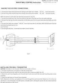 wac000001 fan rf wall control user manual wac lighting co