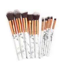 makeup brushes set professional 10pcs kits powder foundation brush concealer eye shadow lip blending make up
