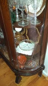 Antique english edwardian satinwood inlay bowed curved glass china display cabinet curio. How To Replace Curved Glass On An Old China Cabinet The Washington Post