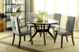 48 round dining table with leaves rt 5 mid century modern style gray finish wood inch