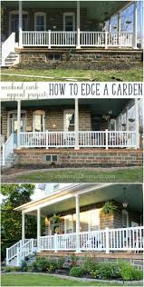Easy DIY curb appeal weekend project: garden edging with mini flagstones  from Lowes. Transform your outdoor … | Curb appeal garden, Diy landscaping,  Budget backyard