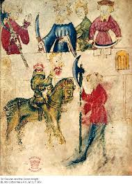 sir gawain and the green knight introduction  manuscript image of sir gawain and the green knight