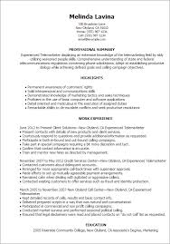 ... Telemarketing Resume Samples throughout [keyword ...