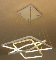 square pendant light fixture