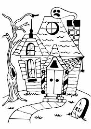 Small Picture Stunning Haunted House Coloring Pages Contemporary Coloring Page