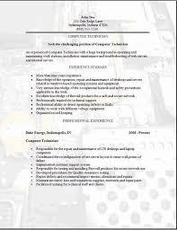Computer Technician Resume3 Technician Pinterest Sample Resume