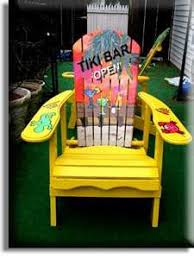 tropical painted furniture. image detail for chair yellow tiki bar parrot head style tropical hand painted furniture n