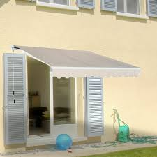 outsunny 3 x 2m outdoor door awning wall mounted canopy garden yard patio cover for