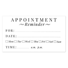 Doctor Appointment Card Template Appointment Cards Template Reminder Card Postcard Jaxos Co