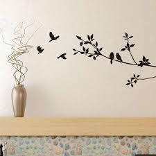 <b>Birds</b> On <b>Tree</b> Branches <b>Vinyl</b> Wall Decals Black <b>Bird</b> Sticker Mural ...