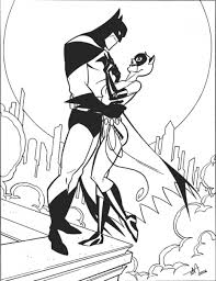 Small Picture Catwoman Coloring Pages To Download And Print For Free throughout