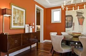 orange wall paint25 Trendy Dining Rooms with Spunky Orange
