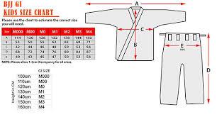 Pin By Customized Kimonos On Jiu Jitsu Kimonos Size Chart
