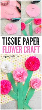 Paper Flower Craft Ideas Tissue Paper Flower Craft Easy Peasy And Fun