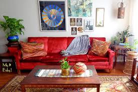 red velvet sofa. My Obsession With Vintage Couches Red Velvet Sofa
