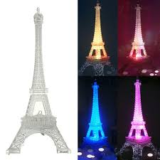 3d led night light eiffel tower illusion night lamp color changing table desk lamps led light