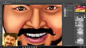 sarkar vijay digital painting in photo mersal teaser