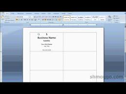 how to create business cards in word printing business cards in word video tutorial youtube