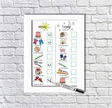 Daily Routine Chart Daily Routine Planner Kids Schedule Morning And Evening Routine For Boys And Girls Checklist Dry Erase Chart