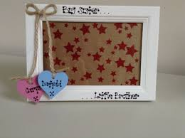 personalised big sister little brother twins cousins friends photo frame gift