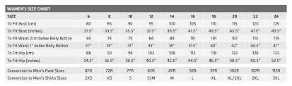 Standard Fit Size Chart Size Chart