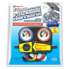 ac manifold gauge set. interdynamics® - ez chill™ r134a manifold gauge set ac r