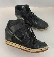details about nike dunk sky hi black snake print leather wedge 528899 010 women s size 8 5